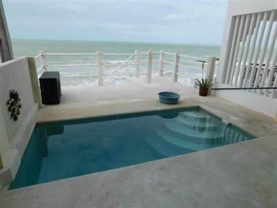 "Chelem, Yucatan Presenting ""THE SOLAR POWERED BEACH VILLA"" Steps to the Beach !!!"