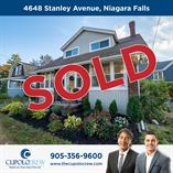 Homes Sold in Stanley Avenue, Niagara Falls, Ontario $399,900