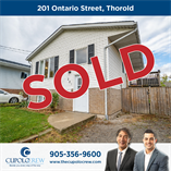 Homes Sold in Thorold South, Thorold, Ontario $429,900
