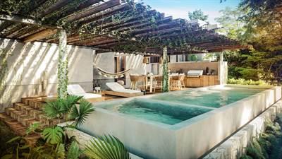 4 Br. Designer Townhouse w/ Private Pool For Sale in Aldea Zama, Tulum, QR, MX