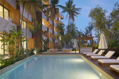 Charming  3Br. Condo  with private terrace on Pre-Sale, Cozumel, QR