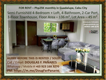 Homes for Rent/Lease in Guadalupe, Cebu City, Cebu ₱25,000 monthly