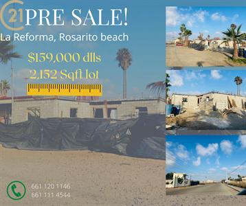 PRE SALE HOUSE IN LA REFORMA, ROSARITO BEACH