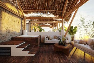 Three stories 4 Br Residence with Garden, Pool and jacuzzi on Rooftop, Pre-sale in Tulum