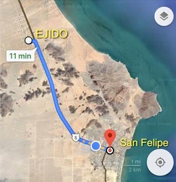3 Adjacent Lots At Ejido Plan National San Felipe Baja California