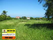 Lots and Land for Sale in Sosua Hills , Sosua, Puerto Plata $109,000
