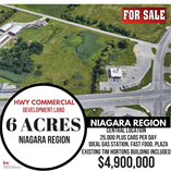 Commercial Real Estate for Sale in Hurricane/Merritville, Thorold, Ontario $4,900,000