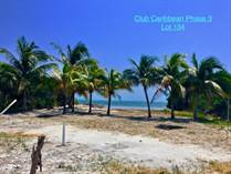Lots and Land for Sale in Club Caribbean, Ambergris Caye, Belize $250,000