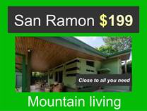 Homes for Sale in San Ramon, Alajuela $199,000