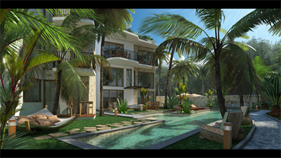 Magnificent 1 Bedrooms 2 Bathrooms Condo for Sale in Tulum at La Veleta DED712