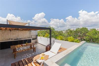 Magnificent 2 Br. PH w/ Private Pool in Aldea Zama, Tulum
