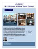 Condos for Sale in West Andover, Andover, Massachusetts $185,800