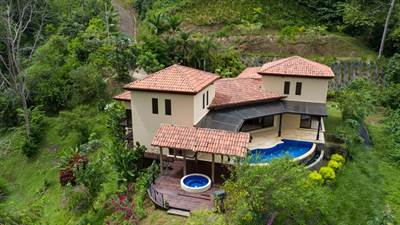 Large Riverfront Estate with Private Waterfall and Ocean View in Ojochal