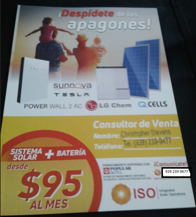Sistema Solar  -  from $95.00 per month Solar System at an affordable price.