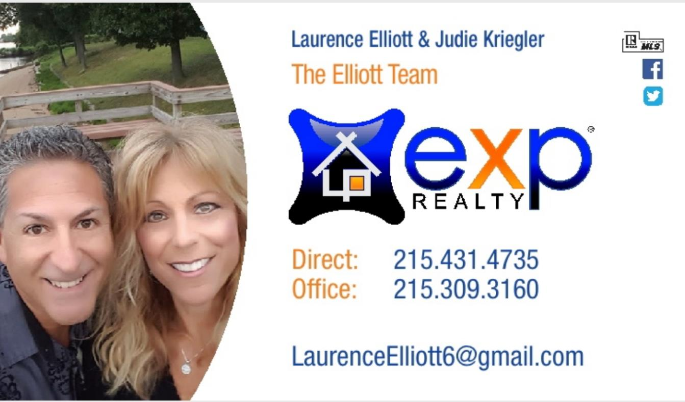 The Elliott Team at eXp Realty in Philadelphia & Surrounding Counties 215.431.4735