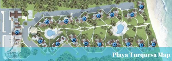 Playa Turquesa map site plan