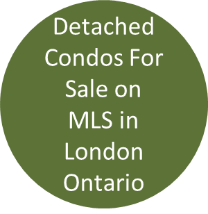Detached Condos For Sale on MLS in London Ontario