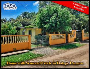 Residential Property for sale in 40k Price Reduction! House with Seasonal Creek for Sale Near Boquete in Dolega, Panama, Dolega, Chiriquí