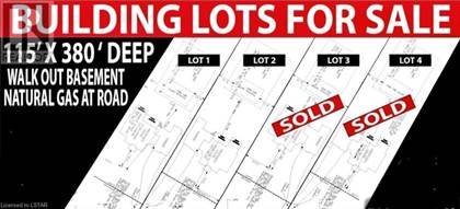 Vacant Land for sale in 8473 LONGWOODS ROAD, London, Ontario, N6P1L4