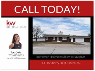 Single Family for sale in 14  Hackberry Drive, Quinter, KS, 67752