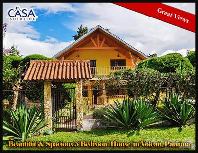 Propiedad residencial en venta en Beautiful & Spacious 5 Bedroom House for Sale in Volcan, Panama, Volcan, Chiriquí