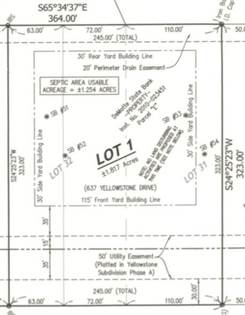Lots And Land for sale in 637-Lot 1 Yellowstone Drive, Hebron, IN, 46341