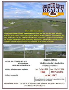 Lots And Land for sale in NHN Chandelle Ct., Fort Peck, MT, 59223