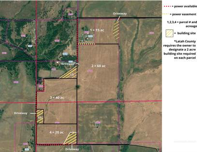 Farm And Agriculture for sale in Sundstrom Rd. (Texas Ridge Parcel 1), Deary, ID, 83823