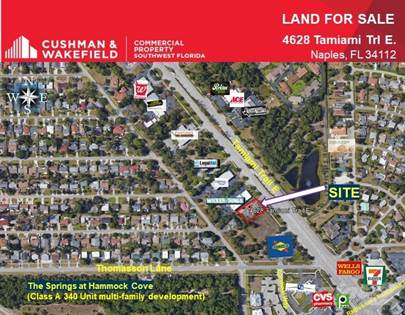 Land for sale in 4628 Tamiami Trl E, East Naples, FL, 34112