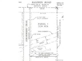 Land for sale in 10025 Strawberry Trl-1, Goodrich, MI, 48438