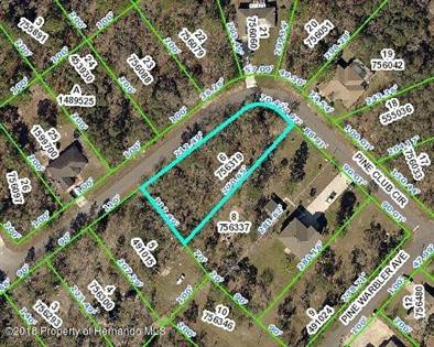 Lots And Land for sale in 12114 Pine Club Circle, Annutteliga Hammock, FL, 34614