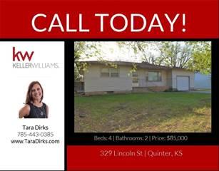Single Family for sale in 329  Lincoln Street, Quinter, KS, 67752