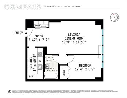 Residential Property for sale in 40 Clinton Street 6-J, Brooklyn, NY, 11201