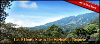 Land for sale in Incredible View Lot 9 House Site in The Springs de Boquete-, Boquete, Chiriquí