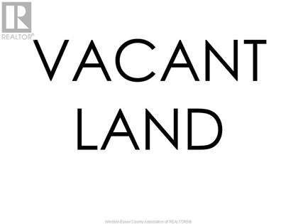 Vacant Land for sale in V/L JARVIS, Windsor, Ontario, N8P1C9