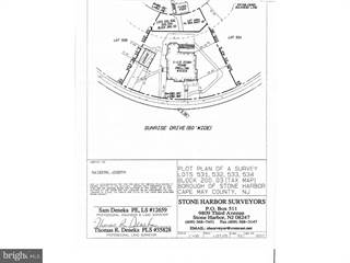 Land for sale in 10315 SUNRISE DRIVE, Stone Harbor, NJ, 08247