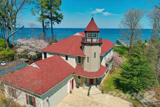 Residential Property for sale in Chesapeake Bay Waterfront Custom Home with Sandy Beach & Pier, Lexington Park, MD, 20653