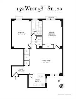 Residential Property for sale in 152 West 58th Street 2-B, Manhattan, NY, 10019