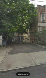 Lots And Land for sale in 666 Osborn Street, Brooklyn, NY, 11212