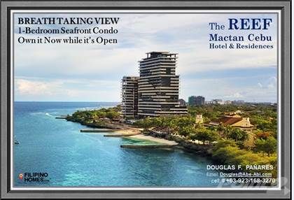 Condominium for sale in The Breathtaking Seafront View of 1-Bedroom Condo of The REEF Mactan Cebu, Lapulapu City, Cebu, Lapulapu City, Cebu