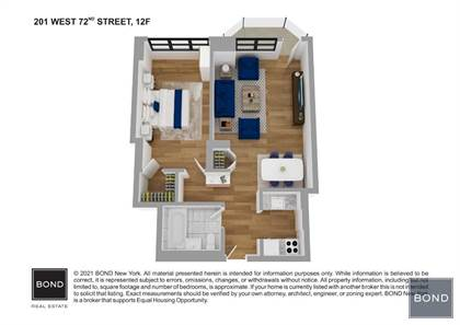 Residential Property for sale in 201 W 72 ST. 12F, Manhattan, NY, 10023