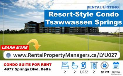 Single Family for rent in 4977 SPRINGS BOULEVARD, Tsawwassen, British Columbia, V4M2B7