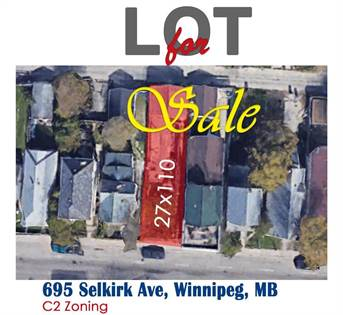 Vacant Land for sale in 695 Selkirk AVE, Winnipeg, Manitoba, R2W2N4