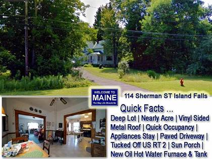 Residential Property for sale in 114 Sherman Street, Island Falls, ME, 04747