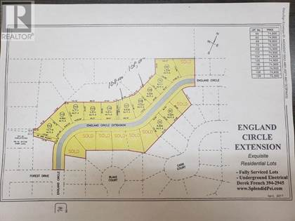 Vacant Land for sale in Lot 109 England Circle Extension, Charlottetown, Prince Edward Island, C1E1V7