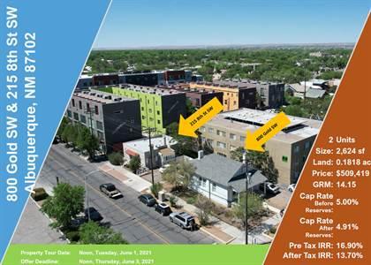Multifamily for sale in 800 Gold & 215 8th Avenue SW, Albuquerque, NM, 87102
