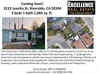 Residential Property for sale in 3122 Juanita Ave., Riverside, CA, 92504