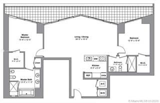 Condo for rent in 495 Brickell Ave 2404, Miami, FL, 33131