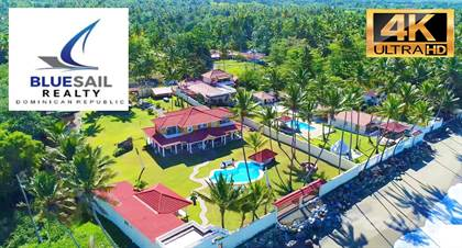 Residential Property for sale in 4K HD VIDEO! MUST SEE! OCEANFRONT 5 BEDROOM VILLA + GUEST HOUSE, CLOSE TO CABARETE, Puerto Plata, Cabarete, Puerto Plata