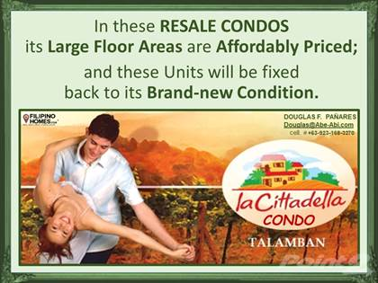 Condominium for sale in Large Floor Areas, yet Affordable 2-Bedroom Condo in Talamban, Cebu City this 2021, Cebu City, Cebu